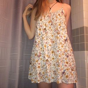 Forever 21 floral racer back dress